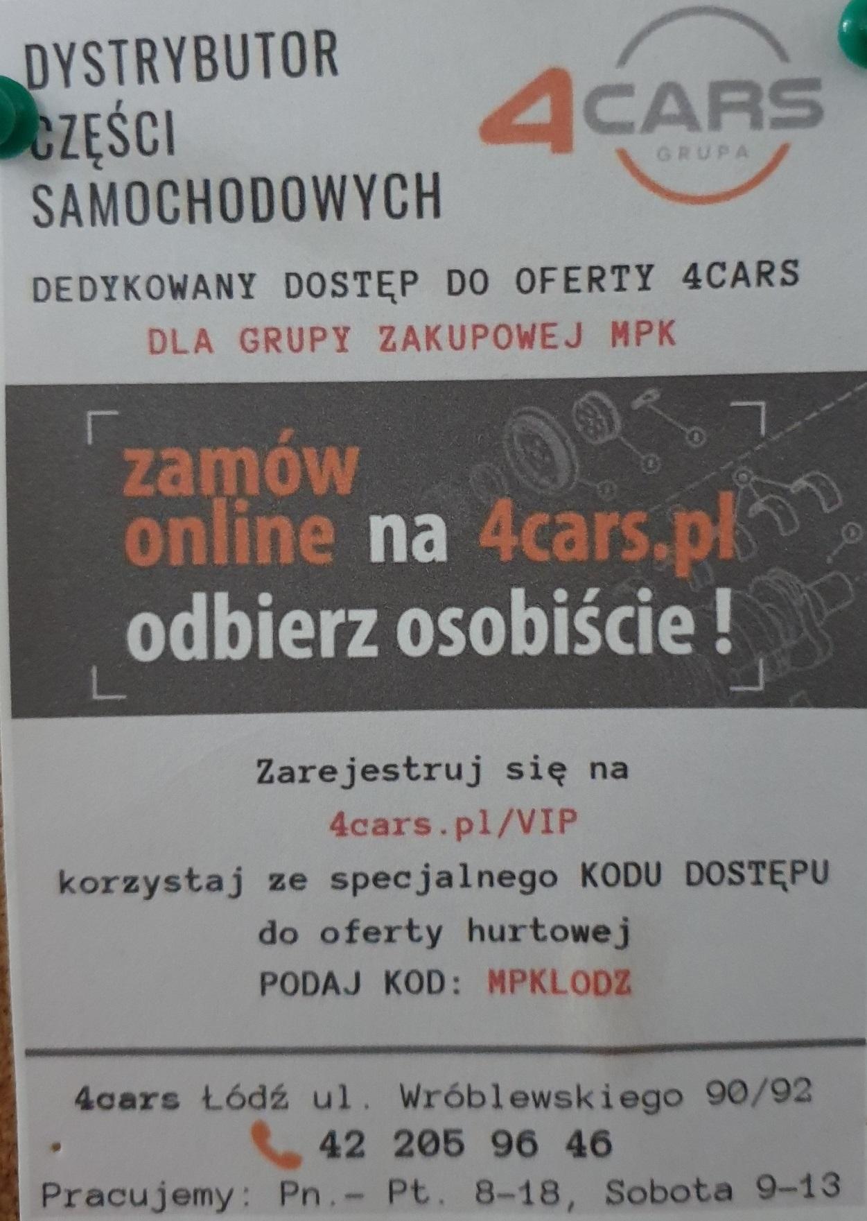 Hurtownia motoryzacyjna 4cars.pl dostęp do oferty hurtowej VIP