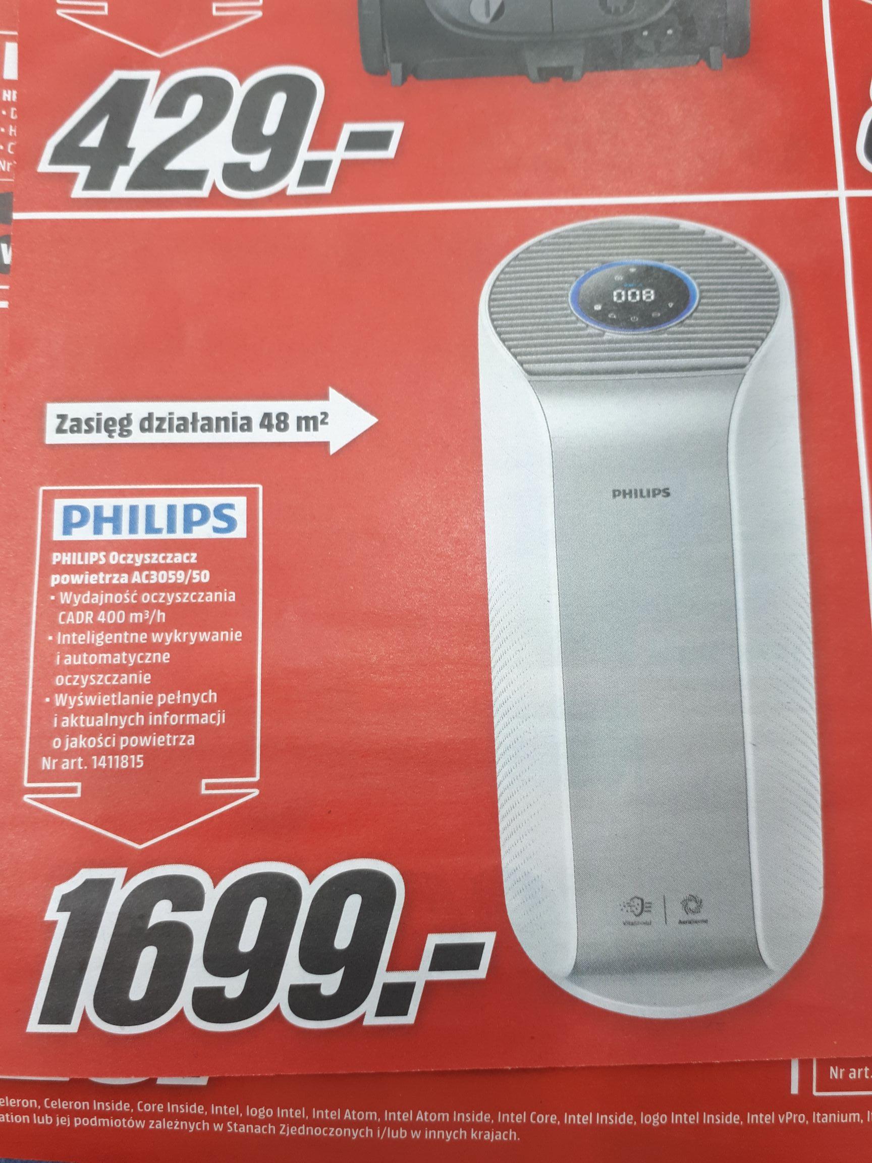 Oczyszczacz powietrza Philips Ac3059 - Media Markt M1 Poznań.