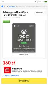 XBOX GAME PASS ULTIMATE 6 M-CY (2 x 3m-ce)