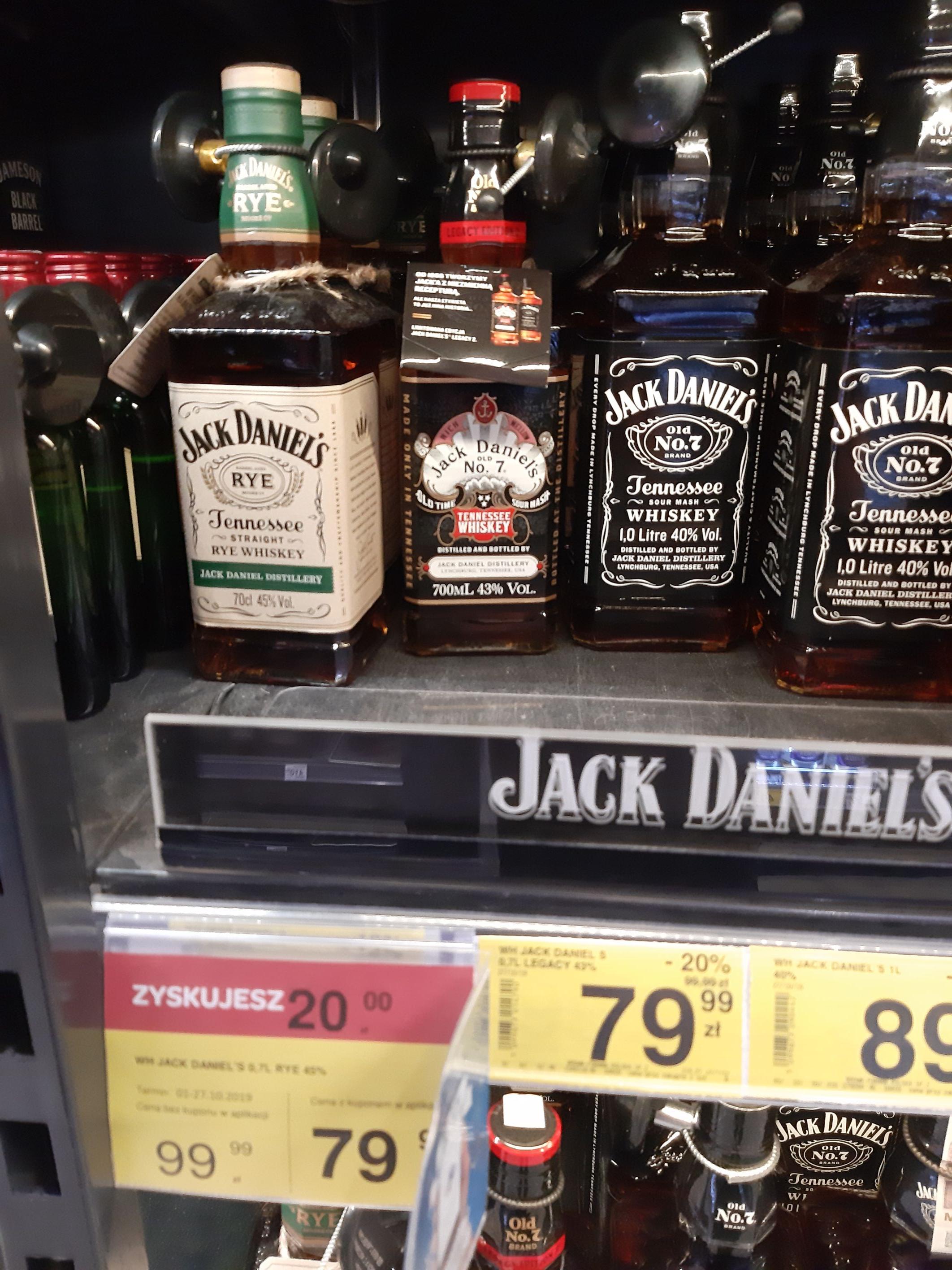 Jack Daniels Rye, Jack Daniels Legancy Edition 2 - Carrefour