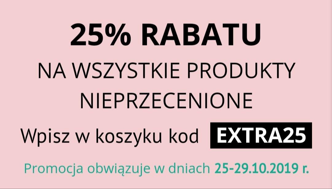 Drogeria Natura 25% rabatu na produkty nieprzecenione
