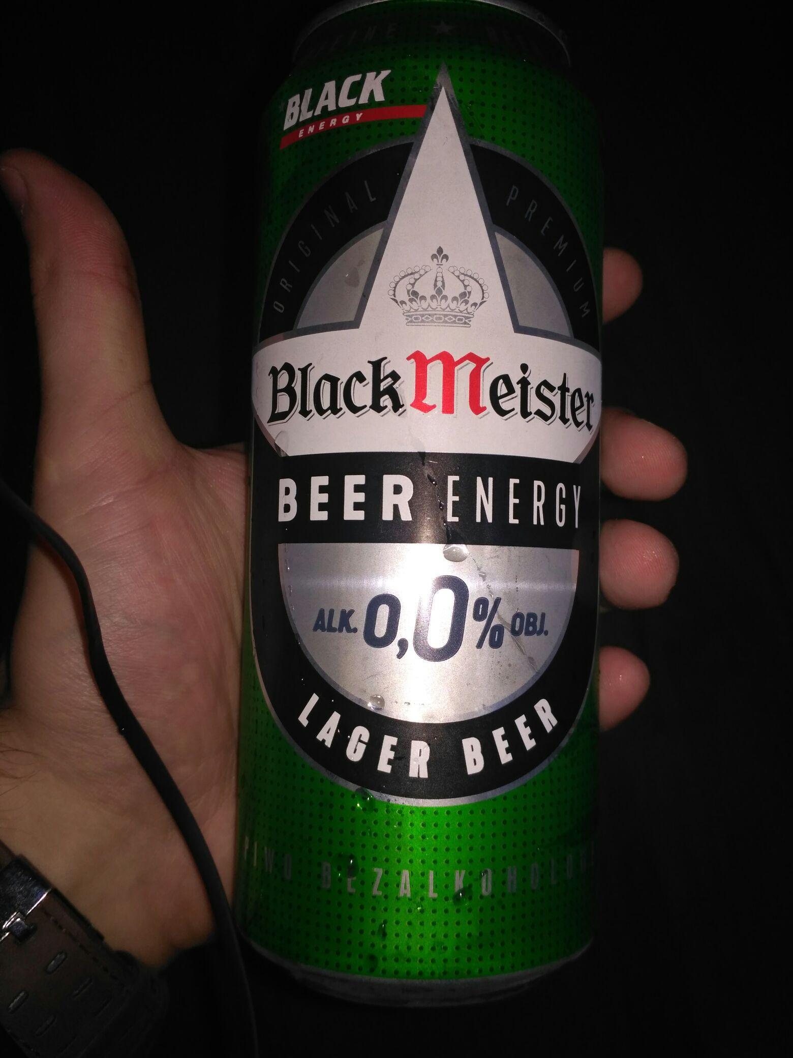 Piwo bezalkoholowe z kofeiną Black Meister