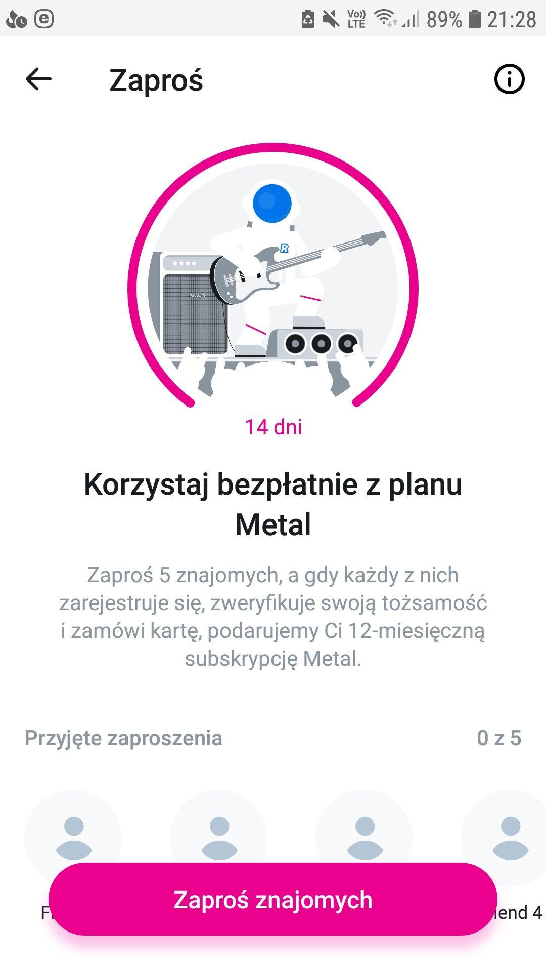 Revolut 12 miesięcy plan Metal