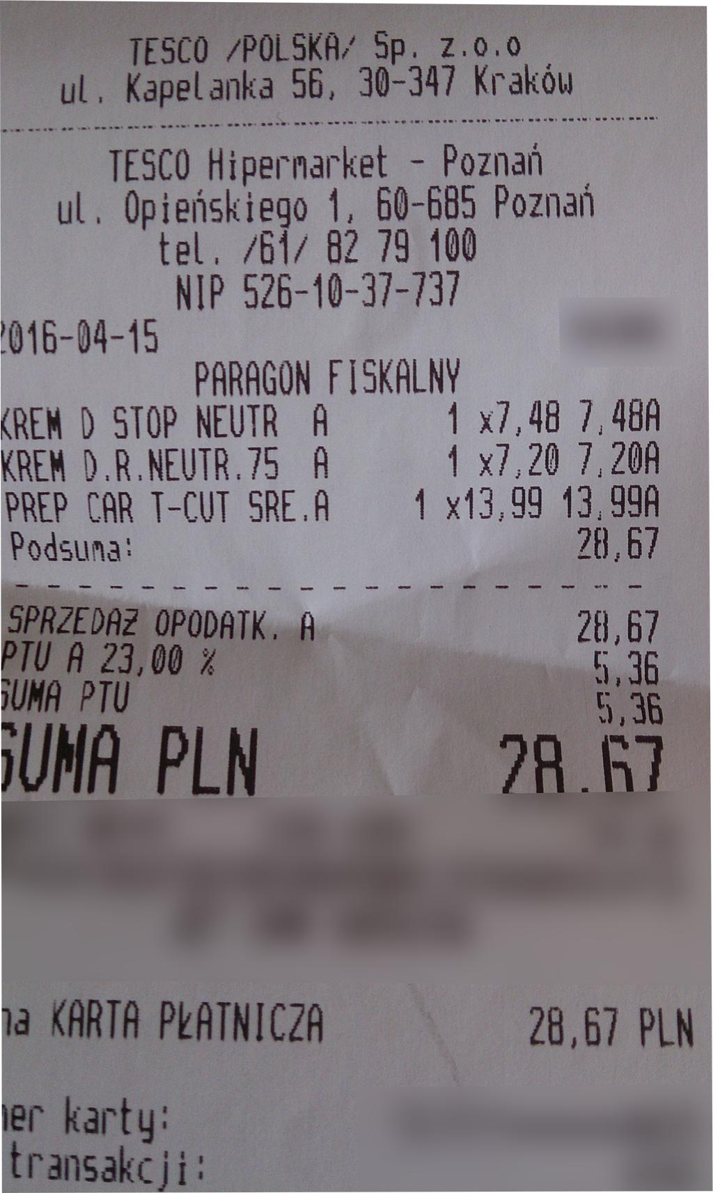 Neutrogena - obniżka 46% @ TESCO (Poznań)
