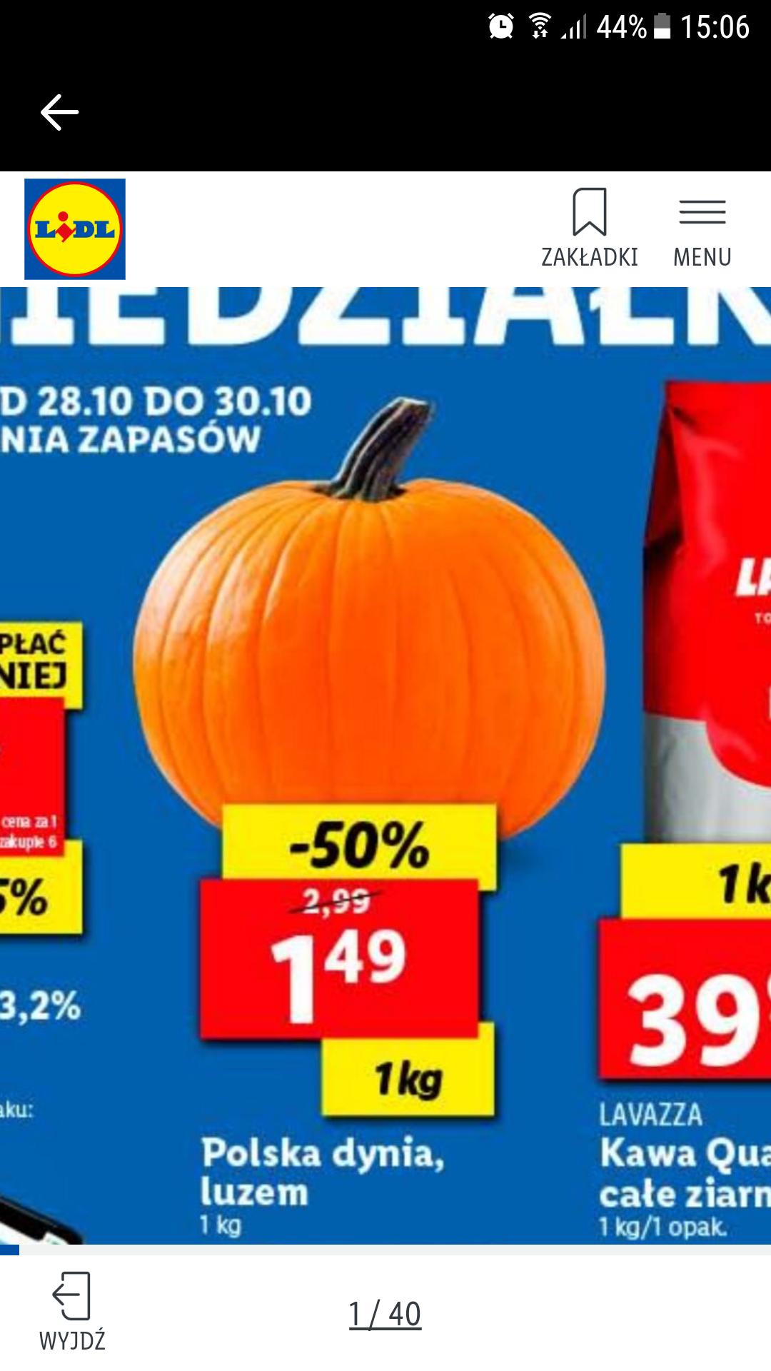 LIDL Dynia -50% za kg