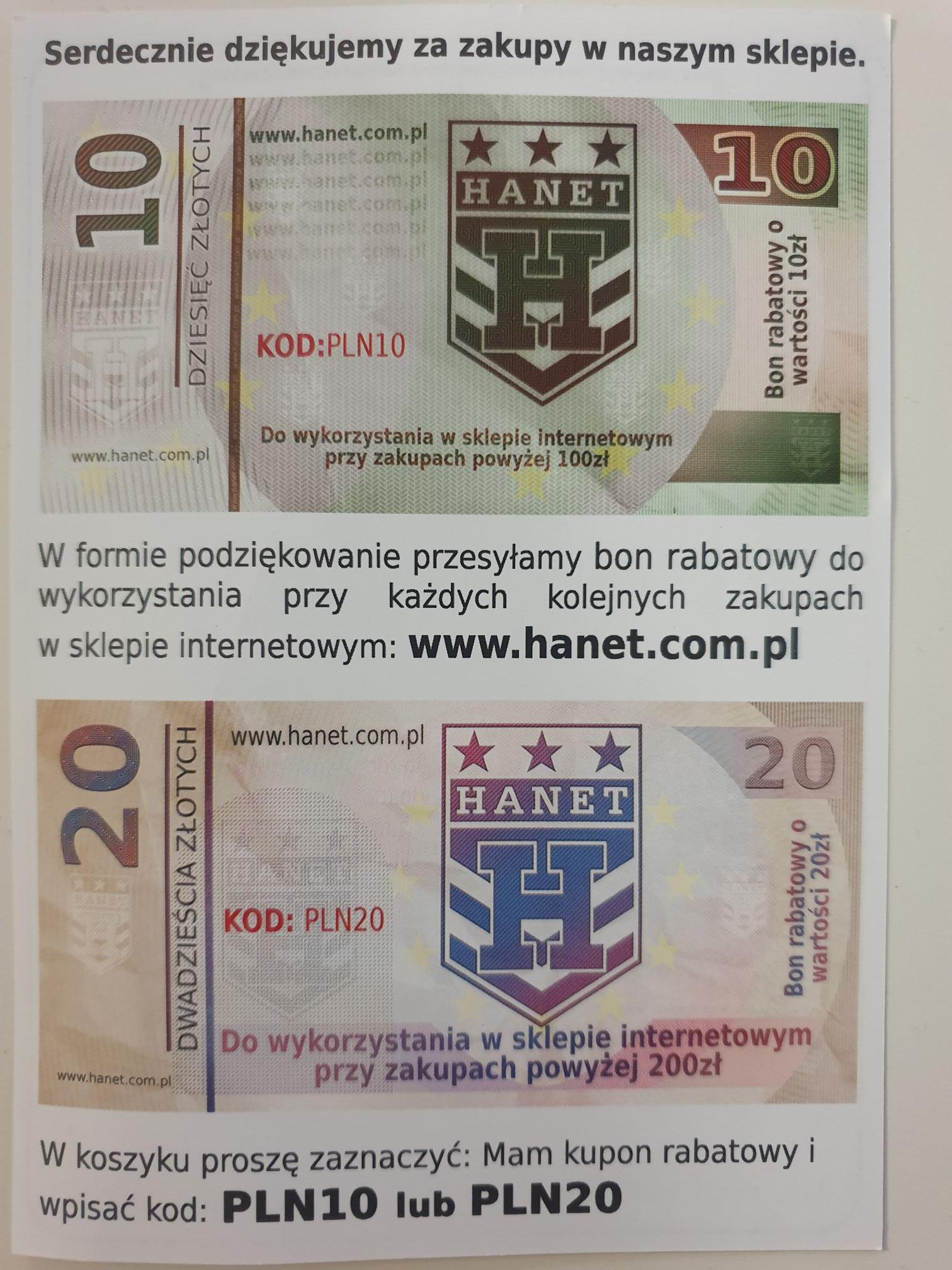 Kod rabatowy w sklepie HANET hanet.com.pl