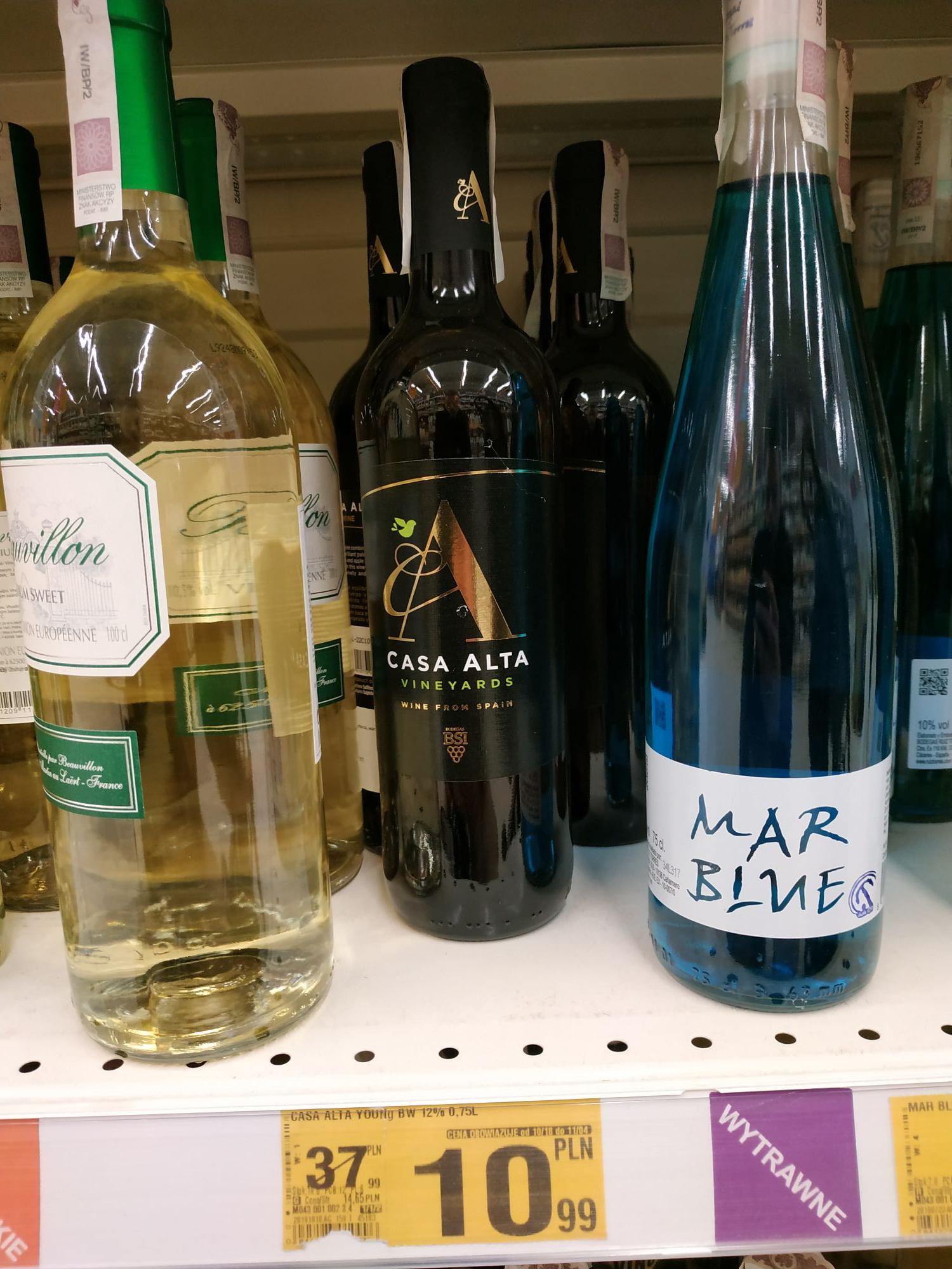 wino wytrawne białe Casa Alta. Auchan Radom promo do 04.11