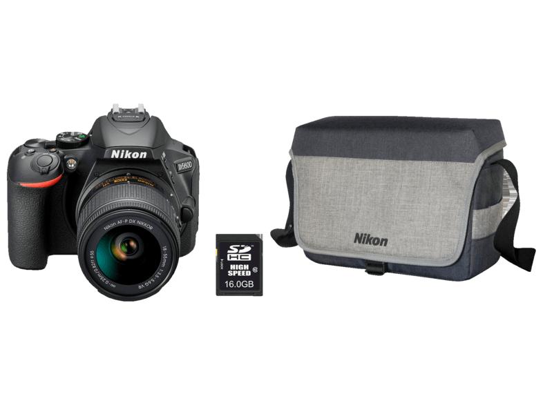 Aparat Nikon D5600, obiektyw 18-55, karta 16GB, torba, zestaw do czyszczenia Wysyłka przez pośrednika!