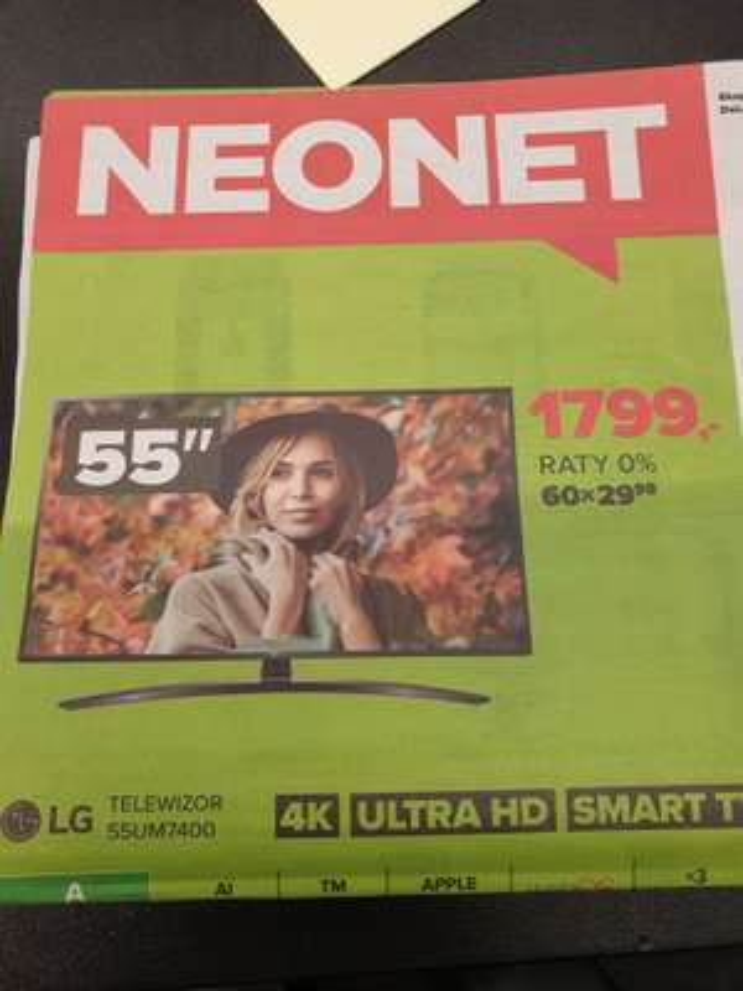 Tv LG 55UM7400 za 1799+pilot magic remote za 50zł Neonet Środa Wielkopolska