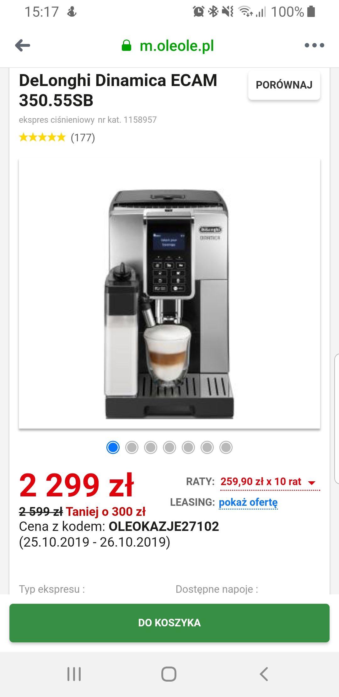 DeLonghi Dinamica ECAM 350.55SB