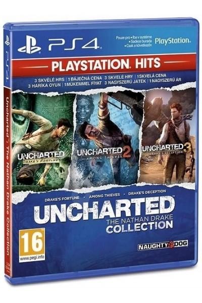 Uncharted Kolekcja Nathana Drake'a Playstation Hits + nakładki na analogi PL PS4