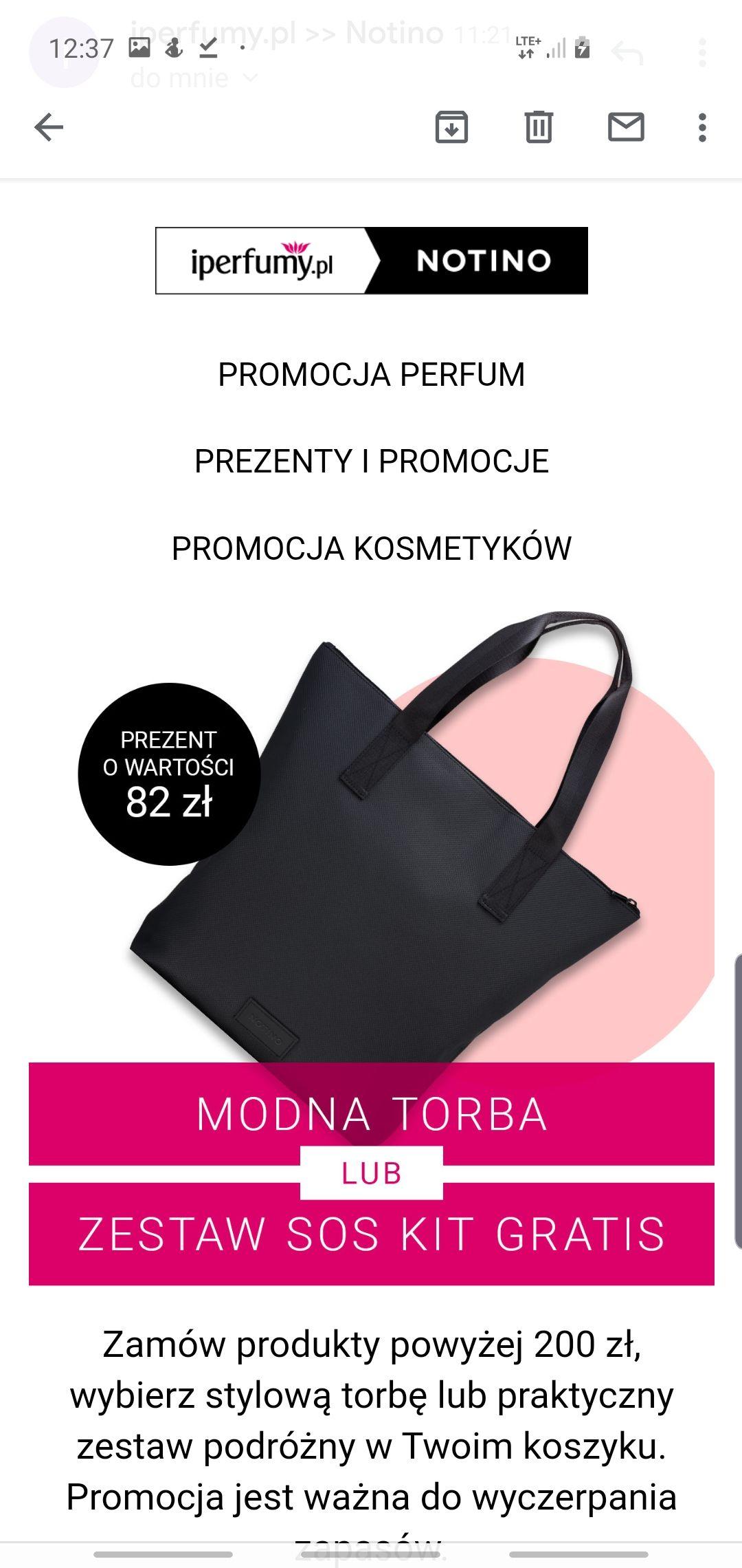 Torba lub Sos Kit dla Niej/Niego za zamówienie powyżej 200 zł w sklepie Notino