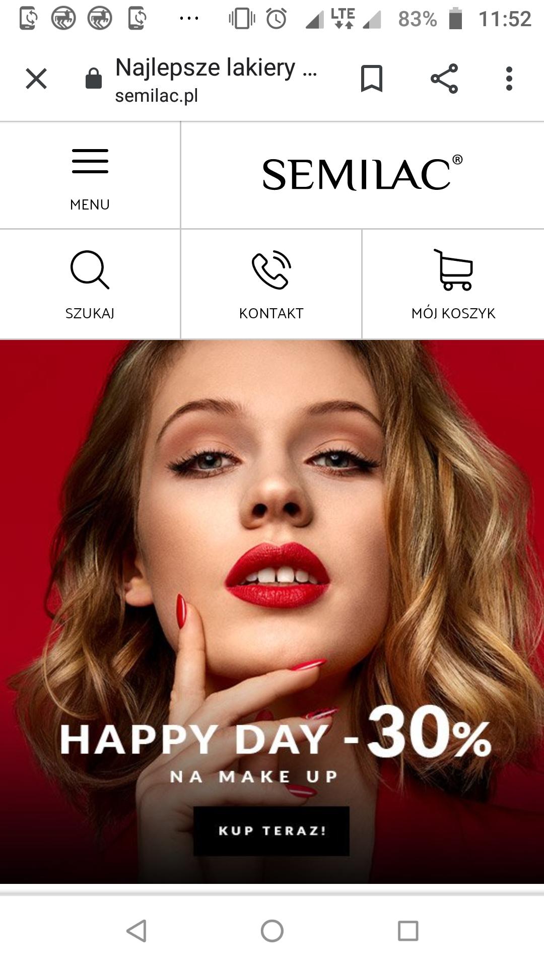 Semilac -30% na makijaż