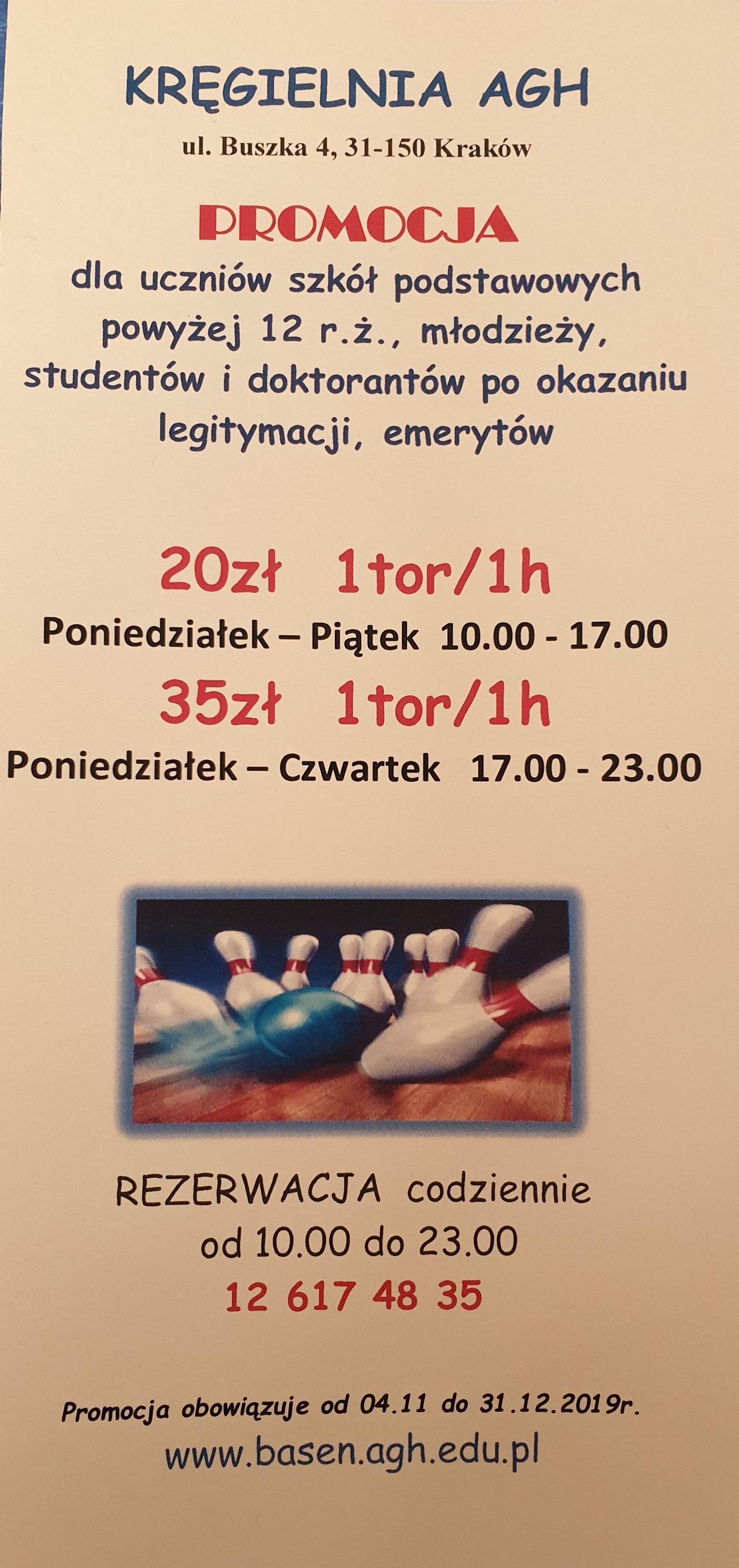Kręgle AGH Kraków