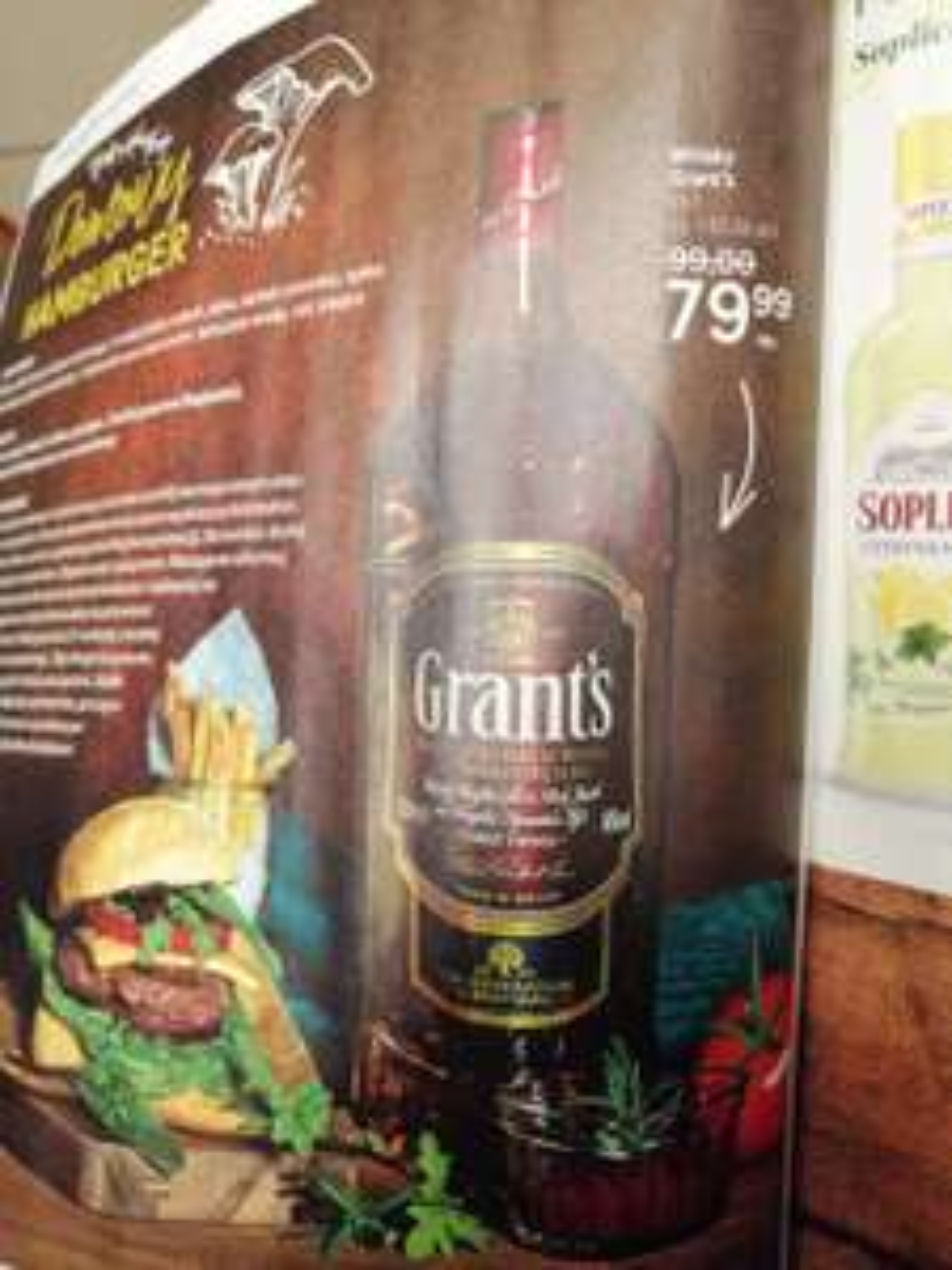 Whisky Grant's Triple Wood 1.5L za 79.99, możliwe 70,49 z kuponem. Tesco, ogólnopolska.