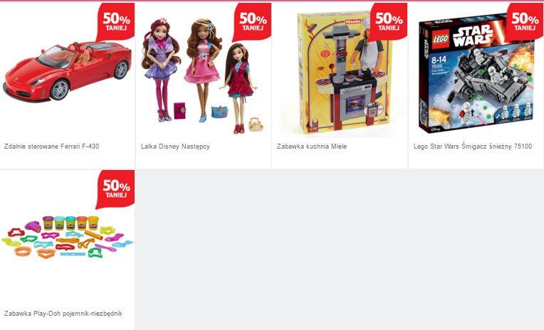 50% rabatu na wybrane zabawki (np. zestaw Lego tar Wars 75100) @ Tesco