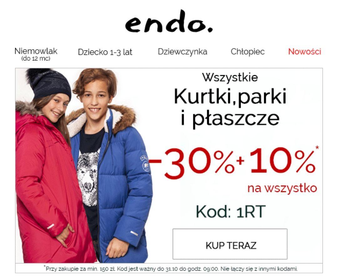 Endo.pl - 30% na kurtki, parki i płaszcze + extra kod 10% na wszystko