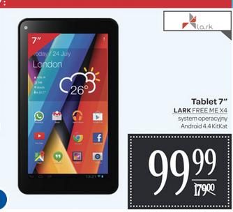 Tablet Lark Free Me X4, 7'' za 99,99zł (przecena z 179) @ Carrefour