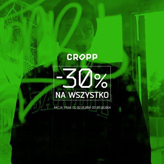 Kupon - 30% na wszystko @ Cropp
