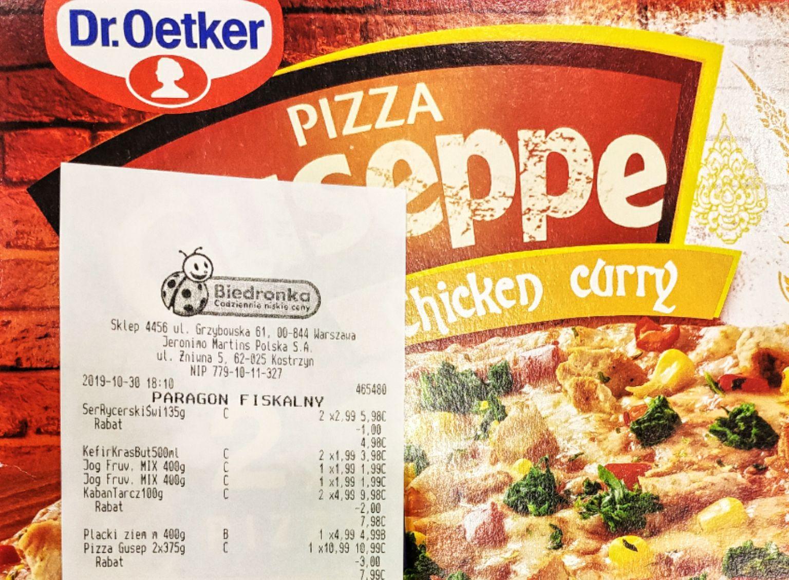 Biedronka - Pizza Giuseppe (2 sztuki) za 7.99PLN czyli 3.99PLN sztuka