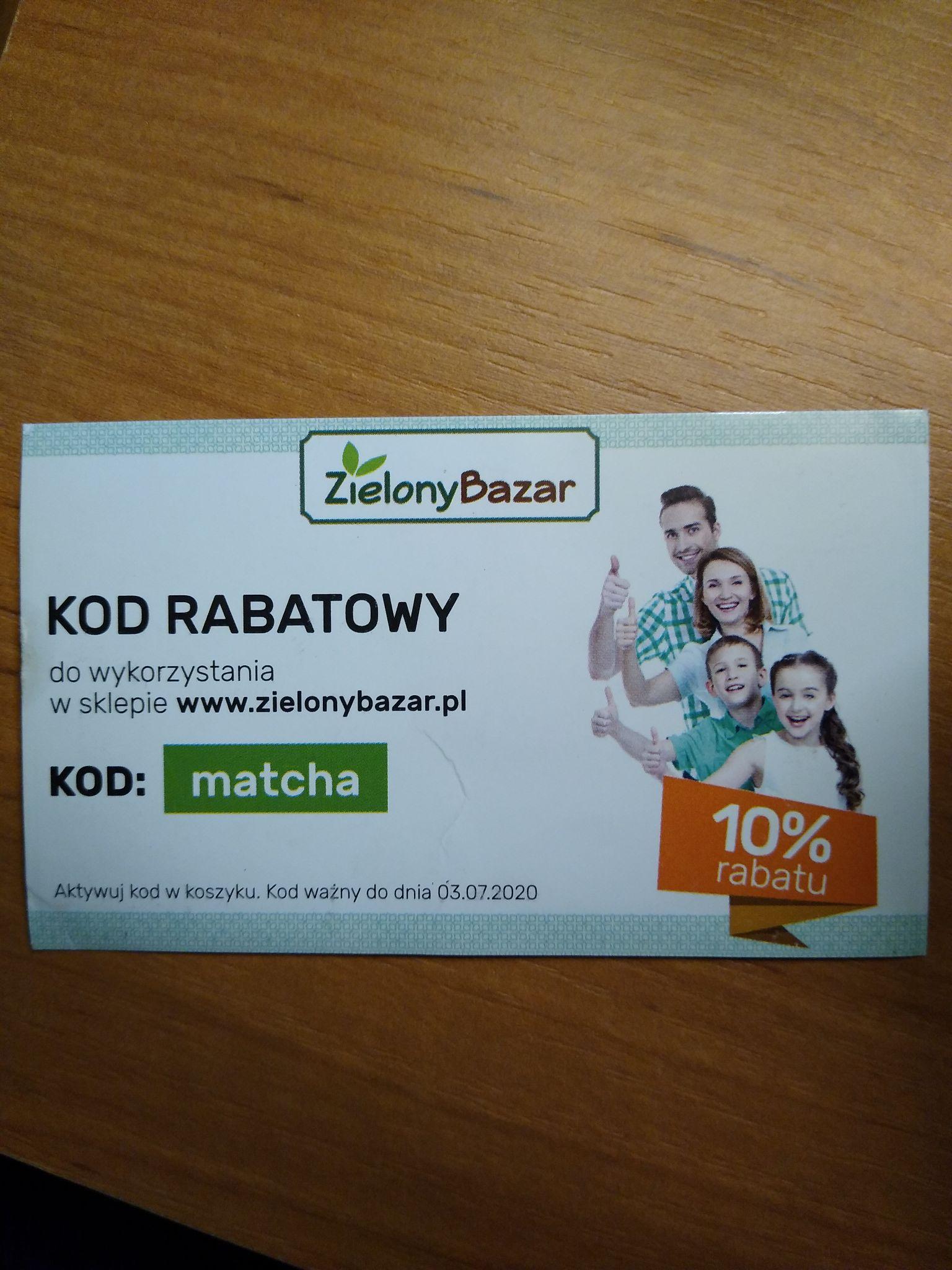 -10% w sklepie internetowym ZielonyBazar