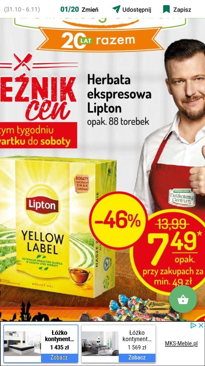 Delikatesy Centrum - herbata ekspresowa Lipton 88 torebek -46%