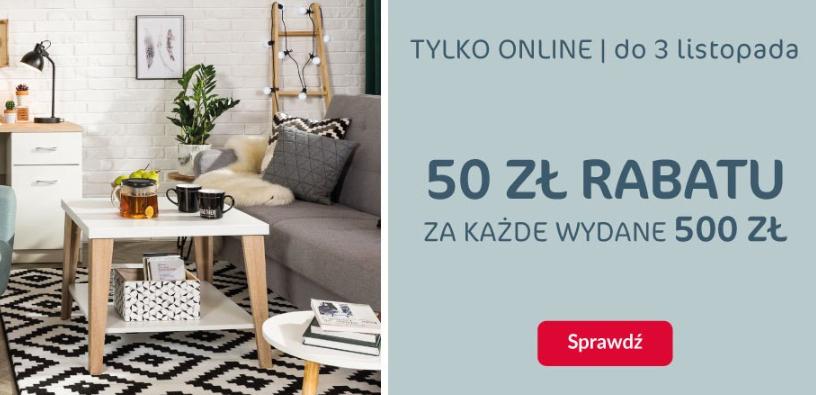 50zł rabatu za każde wydane 500zł - Agata Meble - tylko online