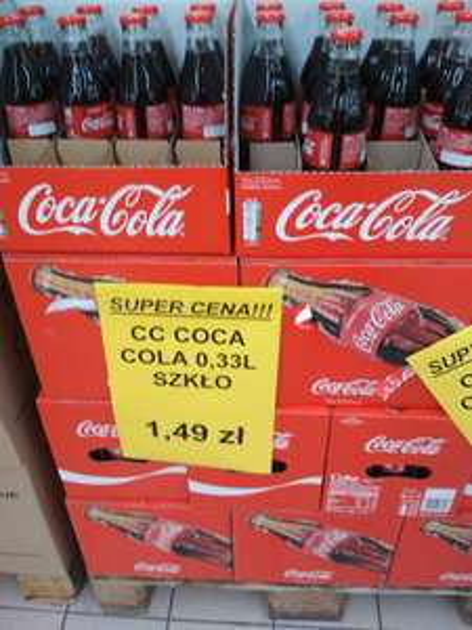 Coca-Cola w szklanej butelce 0.33 Top Market