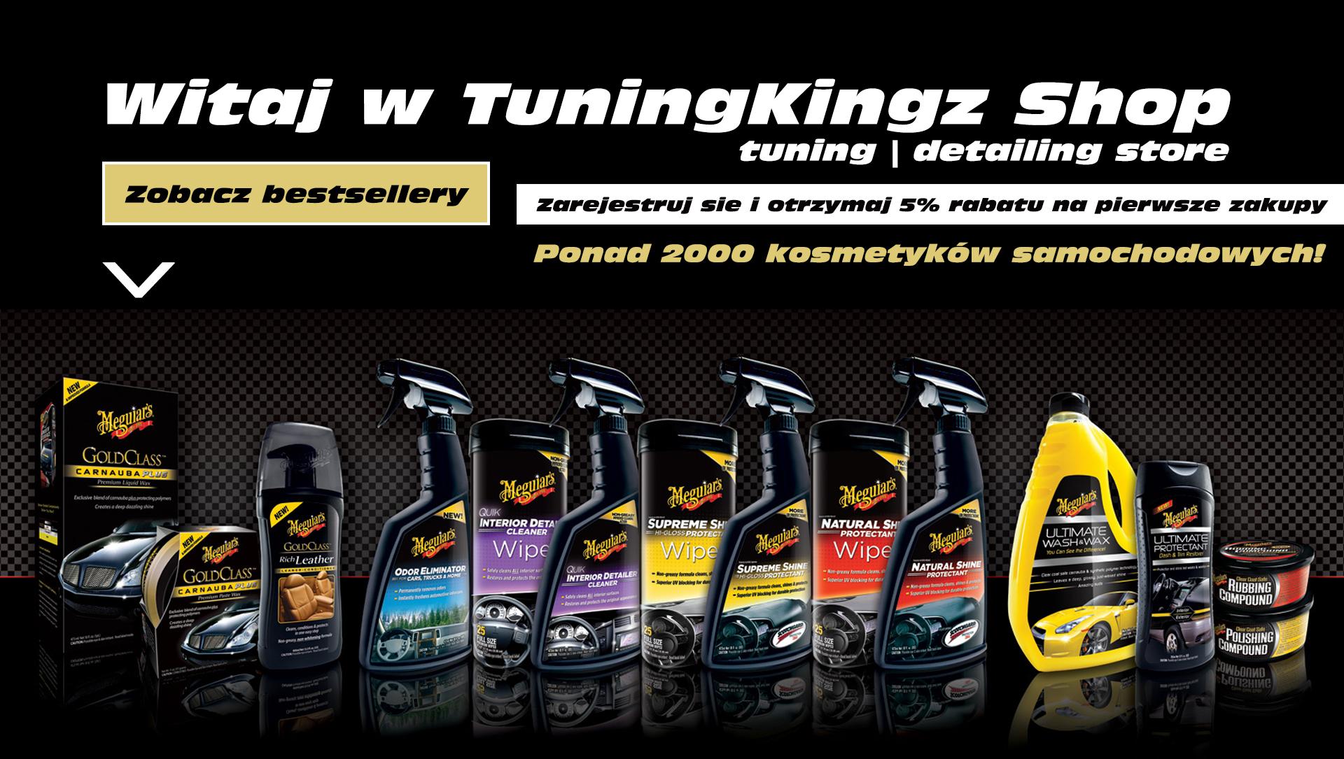 Tuningkingz 20% rabatu na wszystkie marki kosmetyków samochodowych