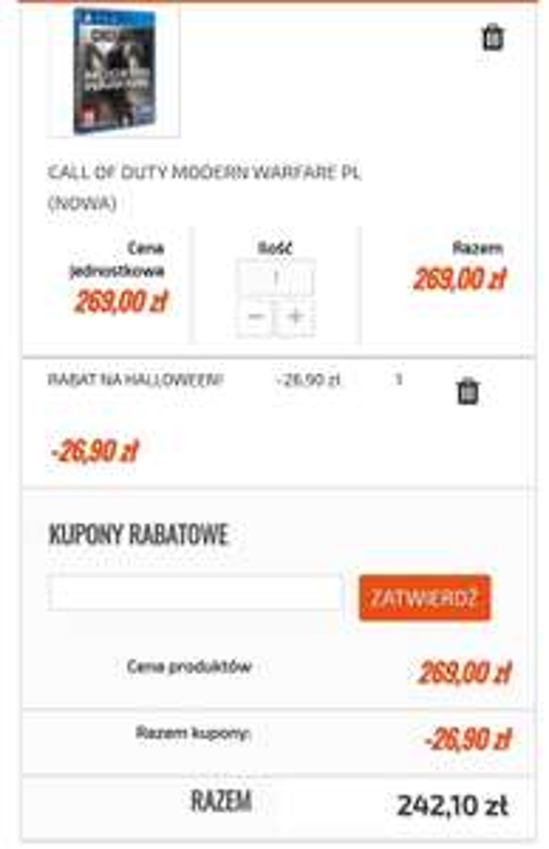 Shopgamer.pl - Promocja na gry, np. Call of duty Modern Warfare (PS4 / XboxOne)
