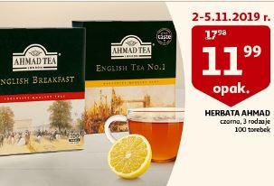 Herbata Ahmad, 3 rodzaje, 100 torebek, Auchan