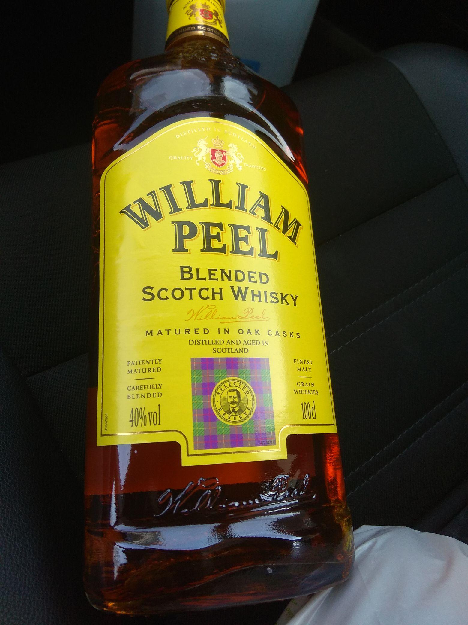 Whisky William Peel 1l w dobrej cenie. Biedronka Tychy