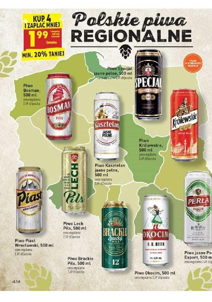 Polskie piwa regionalne kup 4 i zapłać mniej. Biedronka
