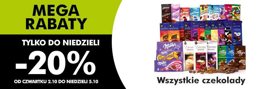 Wszystkie czekolady 20 % taniej @ Biedronka