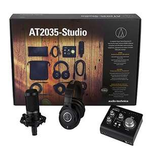 Audio-Technica AT2035-Studio Essential Studio Kit słuchawki, mikrofon, interfejs amazon.de