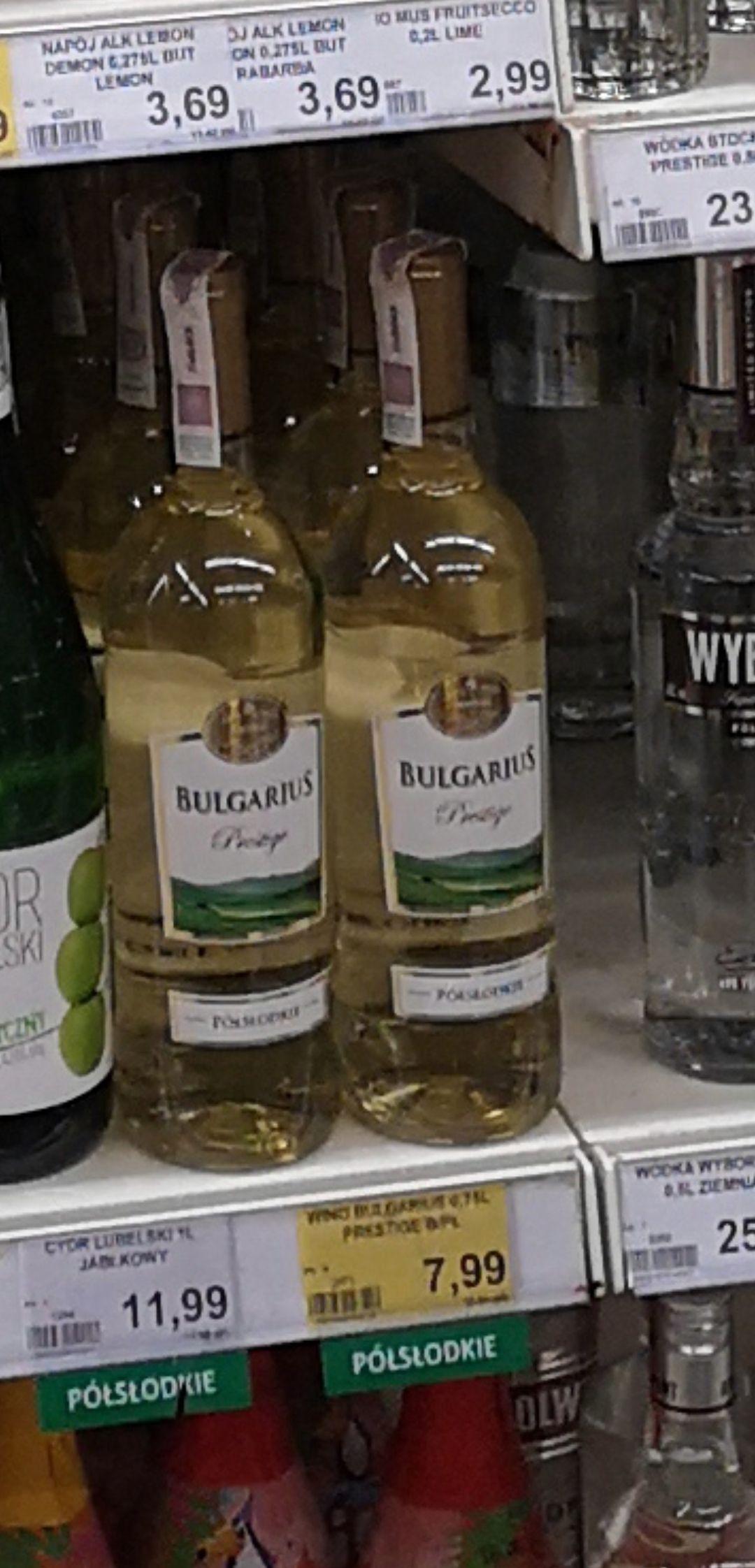 Wino bulgarius 0.75L Różne smaki bardzo dobre @ Lewiatan