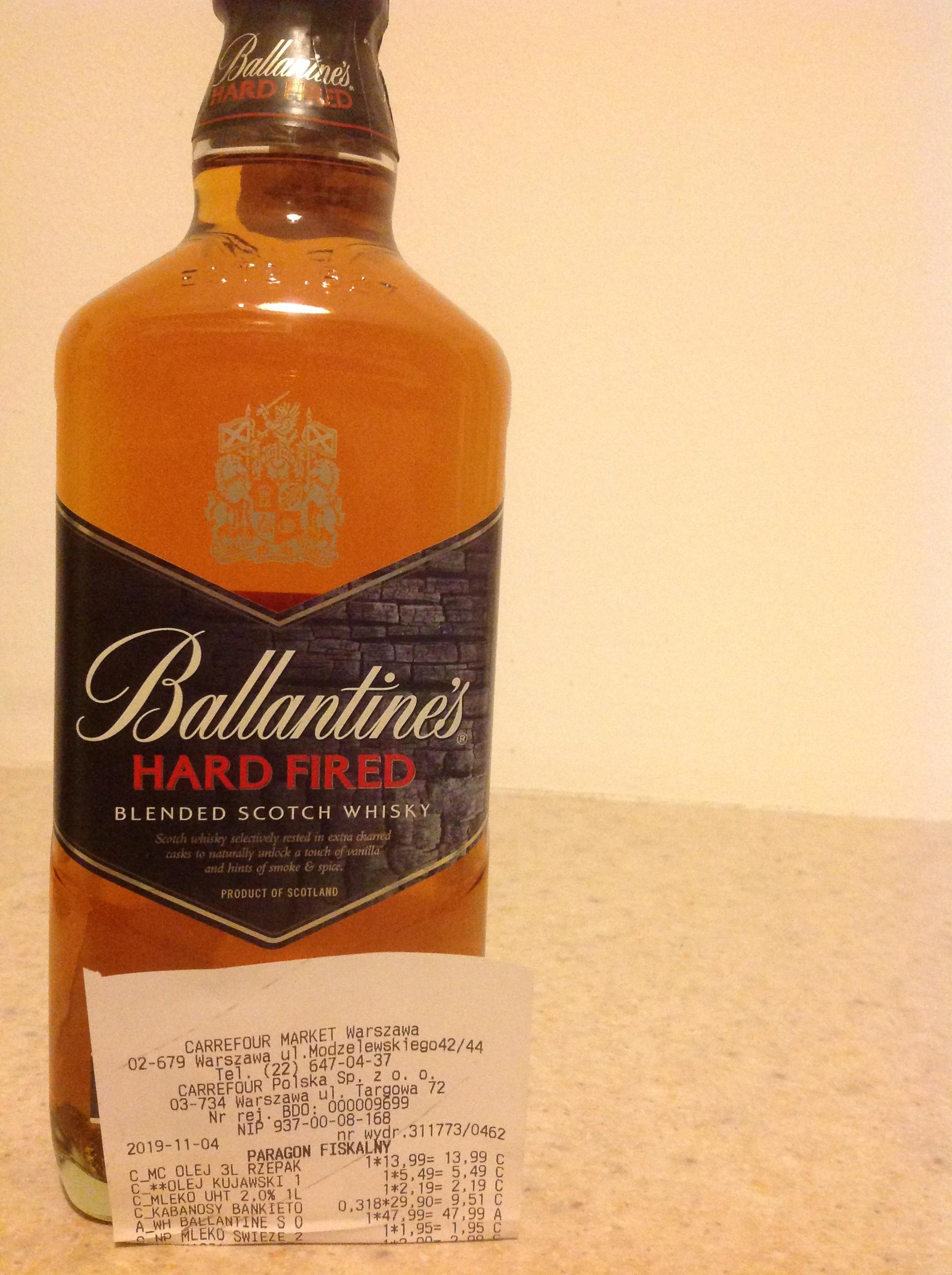 Ballantine's Hard Fired Szkocka whisky mieszana 700 ml Carrefour