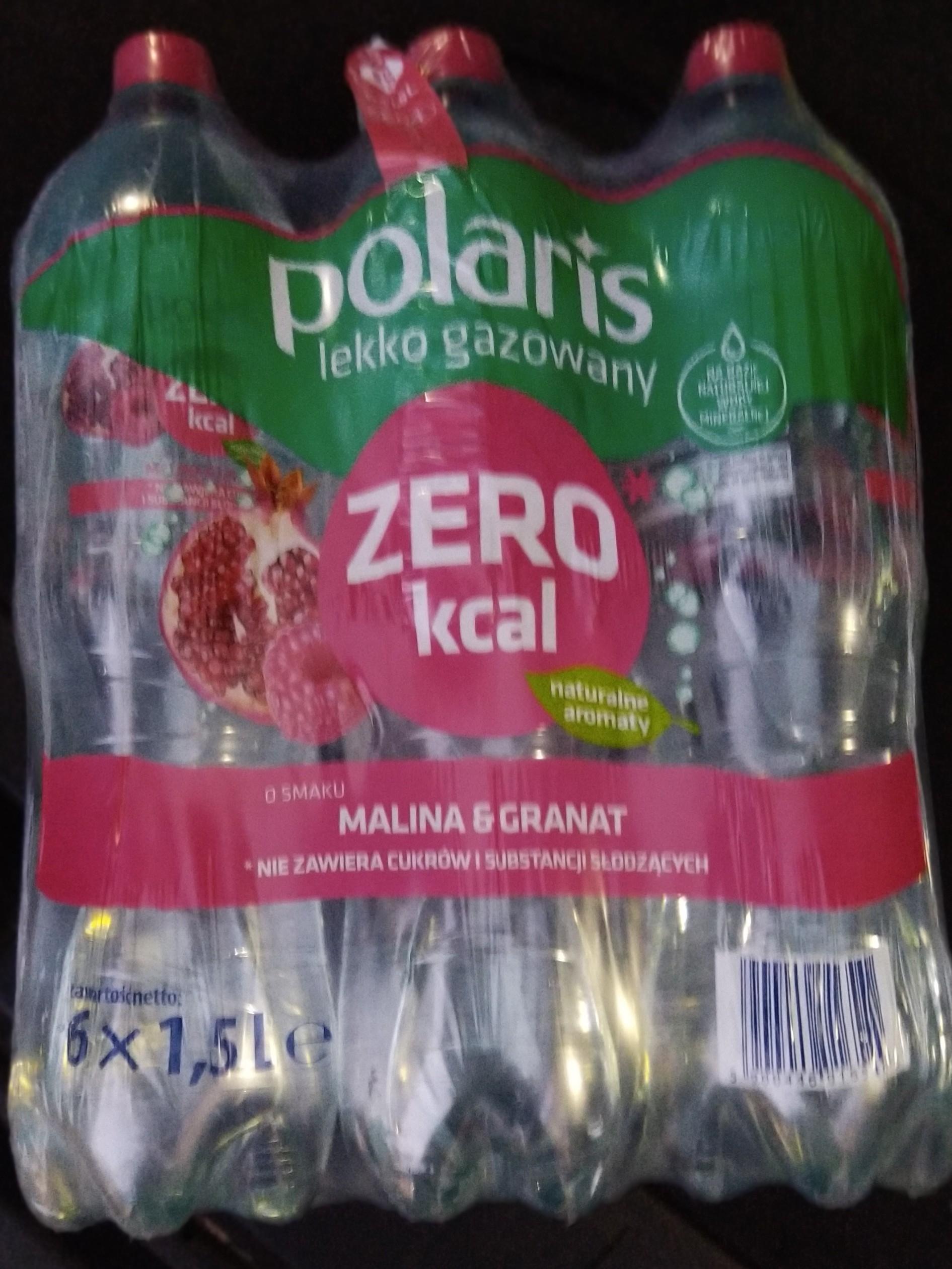 Woda Polaris 0 kcal malina granat lekko gazowana @Biedronka