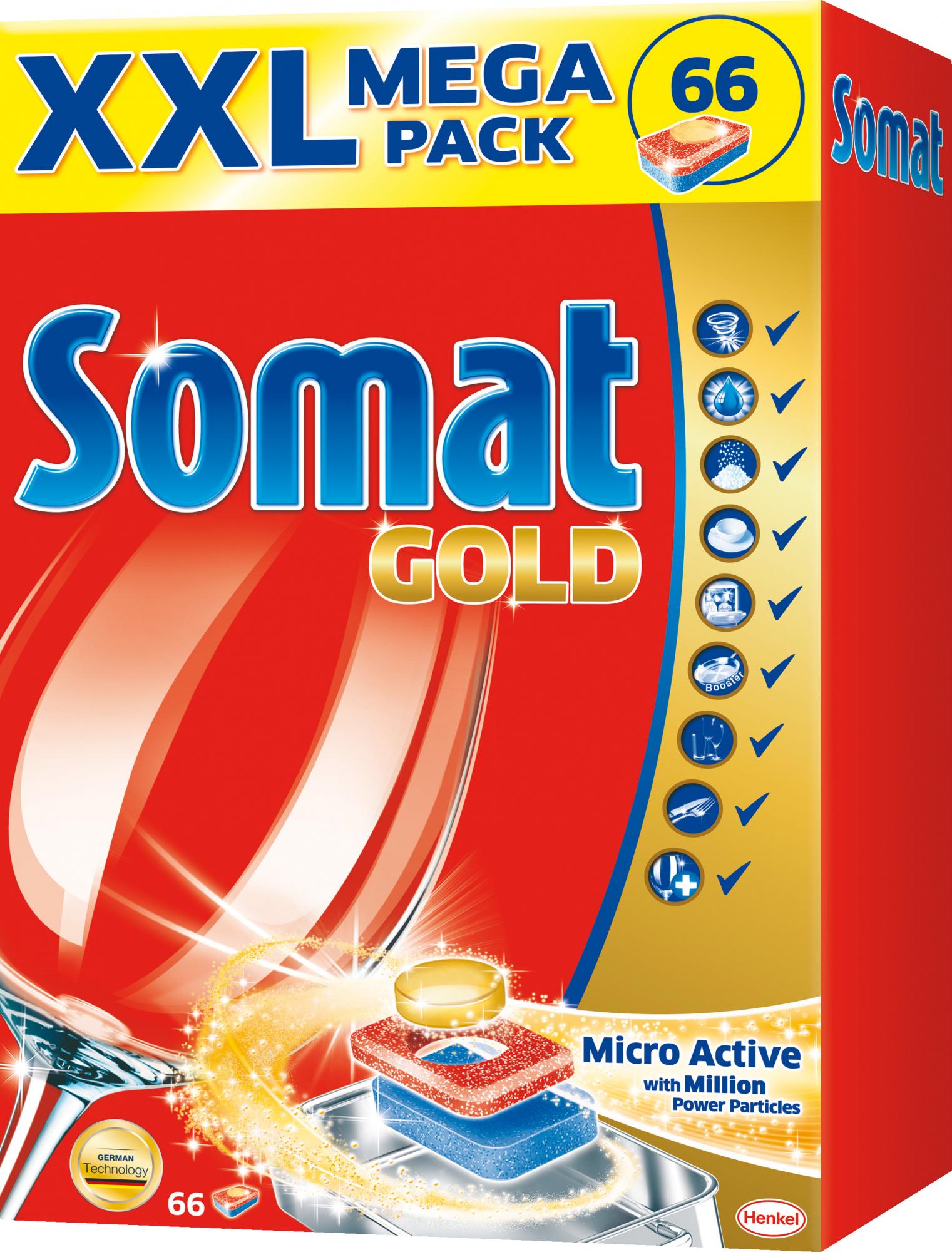 Somat Tabletki do zmywarki Gold XXL Mega Pack 66 szt @ Tesco