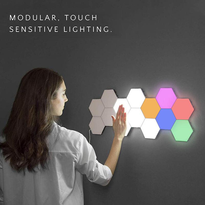 Lampy sześciokątne modułowe oświetlenie dotykowe LED