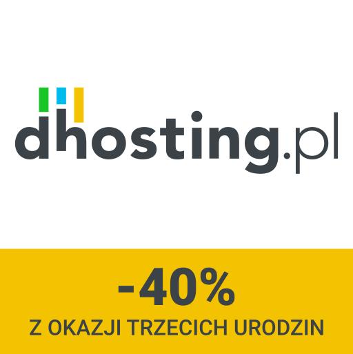 40% taniej Elastyczny Hosting strony www (12zł/miesiąc; auto skalowanie zasobów serwera) @dhosting.pl