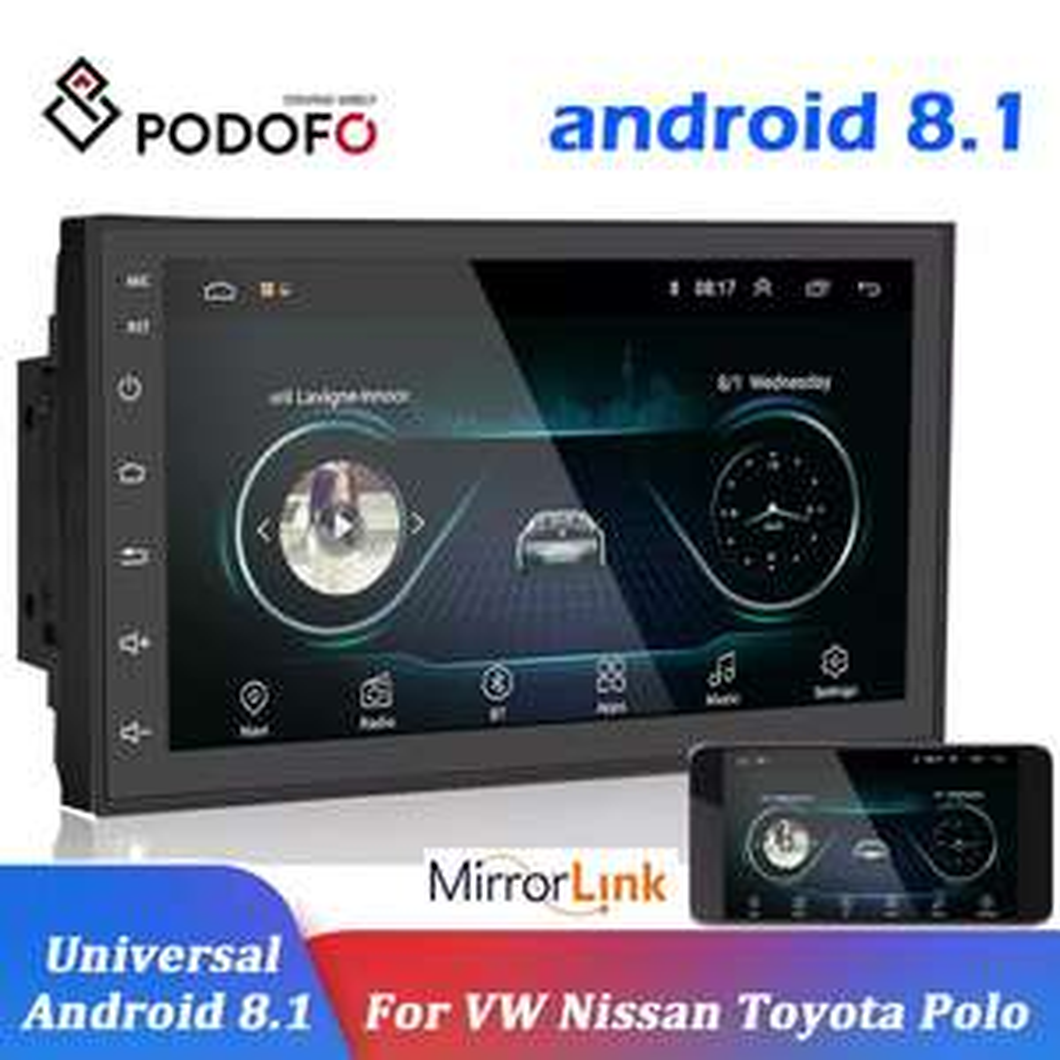 "Podofo Radio Samochodowe Multimedia Player Andriod GPS Navigation 2DIN HD Autoradio WiFi USB FM 2 Din 7"" Car Audio Stereo"