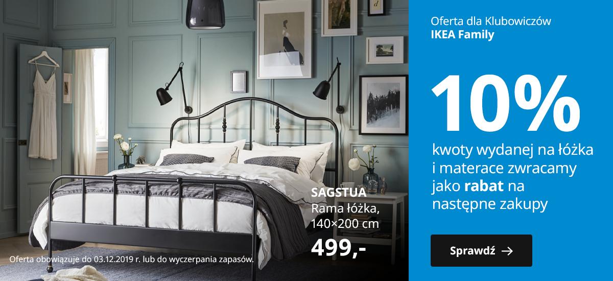 Łóżka i materace - 10% rabatu na następne zakupy @ Ikea