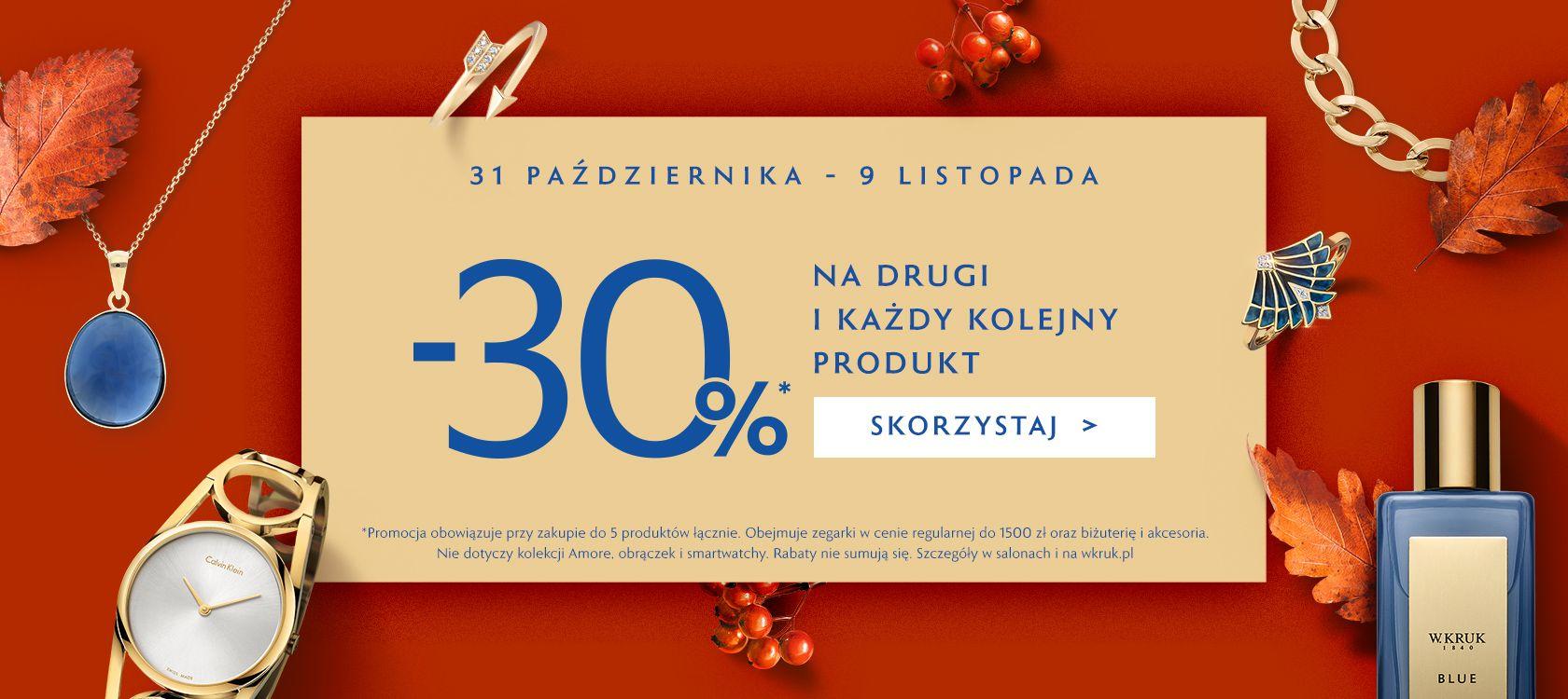 W.KRUK -30% na drugi i kolejny produkt