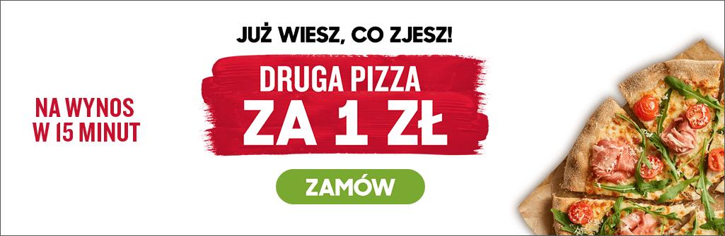 Druga pizza za 1zł (na wynos) - 2 pizze od 28,99zł @ Pizza Hut