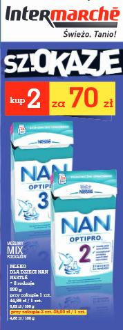 Mleko Nestle NAN 800g za 35zł (przy zakupie 2 sztuk) @ Intermarche