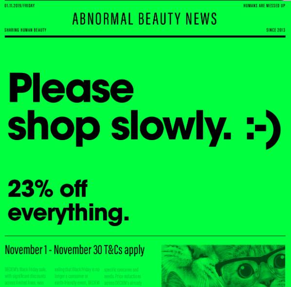 23% zniżki na kosmetyki The Ordinary (oficjalna strona)