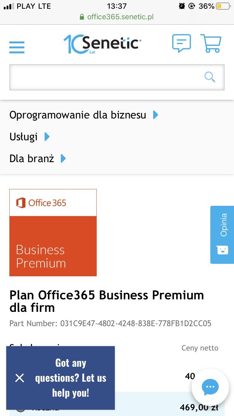 Office 365 Business Premium - plan miesięczny i roczny