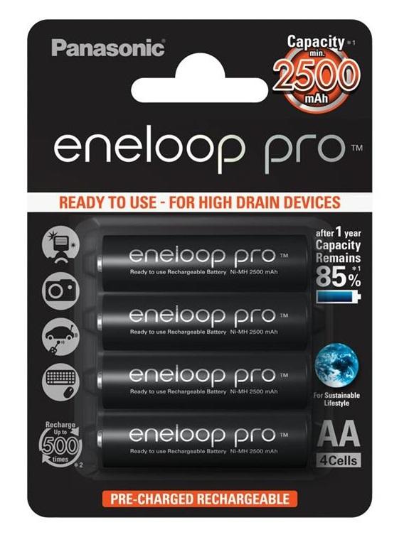 Panasonic Eneloop Pro R6/AA 2500mAh - opak. 4 akumulatorki (BK-3HCDE-4BE) @proline