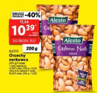 ALESTO Orzechy nerkowca 200g - Lidl